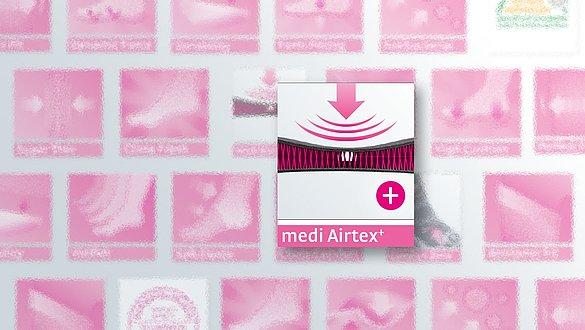 medi Airtex⁺ – respirável e transporta umidade - medi Airtex⁺ – respirável e transporta umidade
